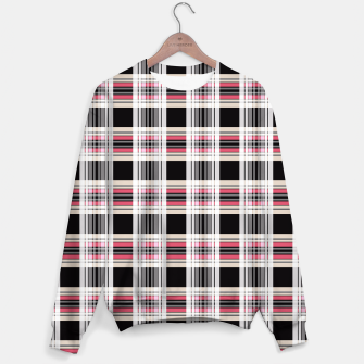 Miniaturka Checkered plaid tartan pattern print Sweater, Live Heroes