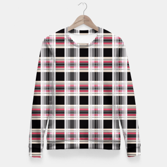 Miniaturka Checkered plaid tartan pattern print Fitted Waist Sweater, Live Heroes
