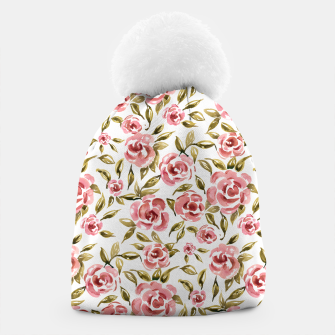 Thumbnail image of Pink Roses Beanie, Live Heroes