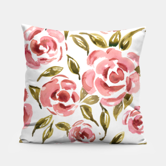 Thumbnail image of Pink Roses Pillow, Live Heroes