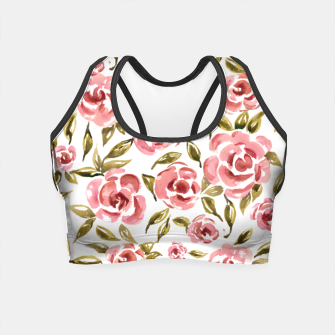 Thumbnail image of Pink Roses Crop Top, Live Heroes