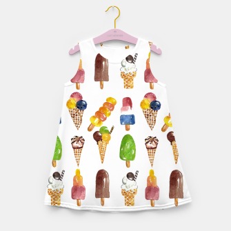 Thumbnail image of Anna's Icecream Collection Girl's Summer Dress, Live Heroes