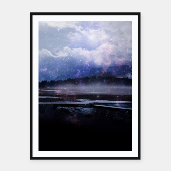 Miniature de image de Space Cloud Framed poster, Live Heroes