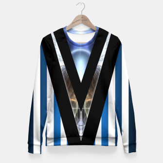 Thumbnail image of WOAHAW-DF Blue Fitted Waist Sweater, Live Heroes