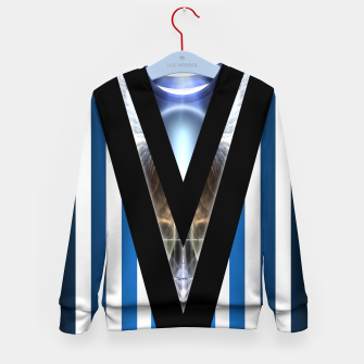 Thumbnail image of WOAHAW-DF Blue Kid's Sweater, Live Heroes