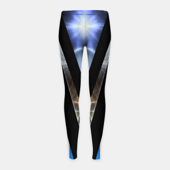 Thumbnail image of WOAHAW-DF Blue Girl's Leggings, Live Heroes