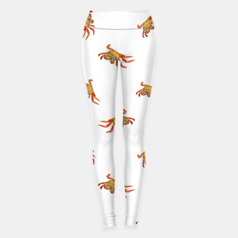 Thumbnail image of Crabs Photo Collage Pattern Design Leggings, Live Heroes