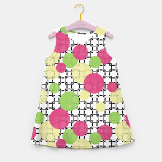 Polka dots Girl's Summer Dress obraz miniatury