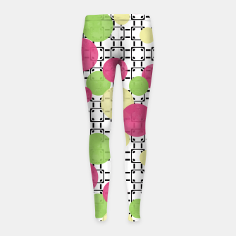 Polka dots Girl's Leggings obraz miniatury