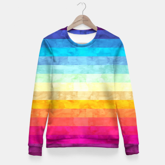 Colorful modern painting Fitted Waist Sweater obraz miniatury