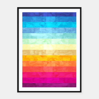 Colorful modern painting Framed poster obraz miniatury