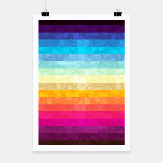Colorful modern painting Poster obraz miniatury