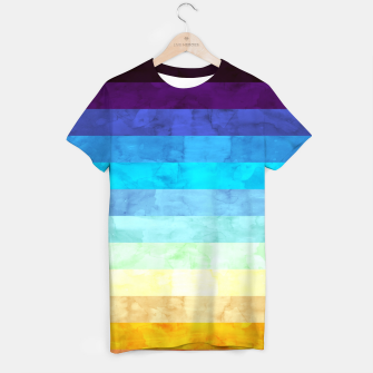 Thumbnail image of Colorful modern painting T-shirt, Live Heroes