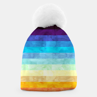 Thumbnail image of Colorful modern painting Beanie, Live Heroes