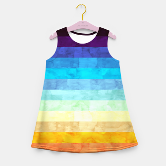 Thumbnail image of Colorful modern painting Girl's Summer Dress, Live Heroes