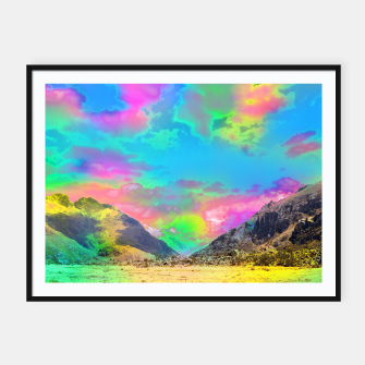Thumbnail image of Truly High Mountains by #Bizzartino Framed poster, Live Heroes