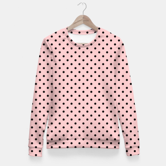 Polka dots retro color Fitted Waist Sweater obraz miniatury