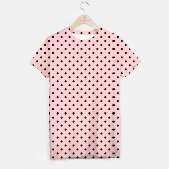 Polka dots retro color T-shirt obraz miniatury