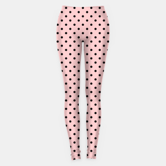 Polka dots retro color Leggings obraz miniatury