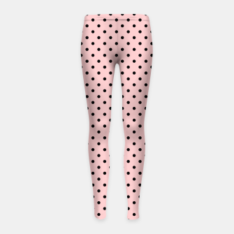 Polka dots retro color Girl's Leggings obraz miniatury