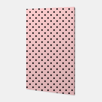 Polka dots retro color Canvas obraz miniatury