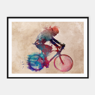 Thumbnail image of cycling Plakaty w ramie , Live Heroes