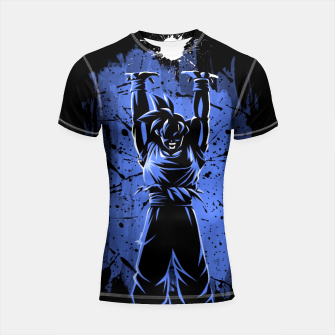 Thumbnail image of Stain hands up Shortsleeve Rashguard, Live Heroes