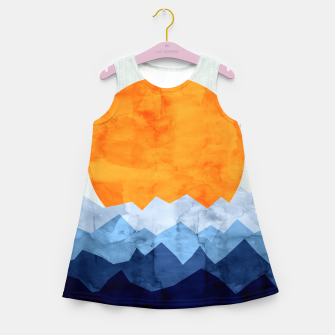 Thumbnail image of Watercolor landscape Girl's Summer Dress, Live Heroes