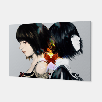 Thumbnail image of Anime Black Hair Girls Canvas, Live Heroes