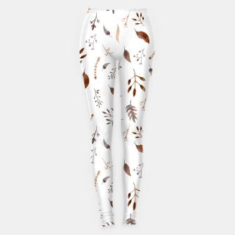 "Miniatur ""Dried flowers"" white Leggings, Live Heroes"