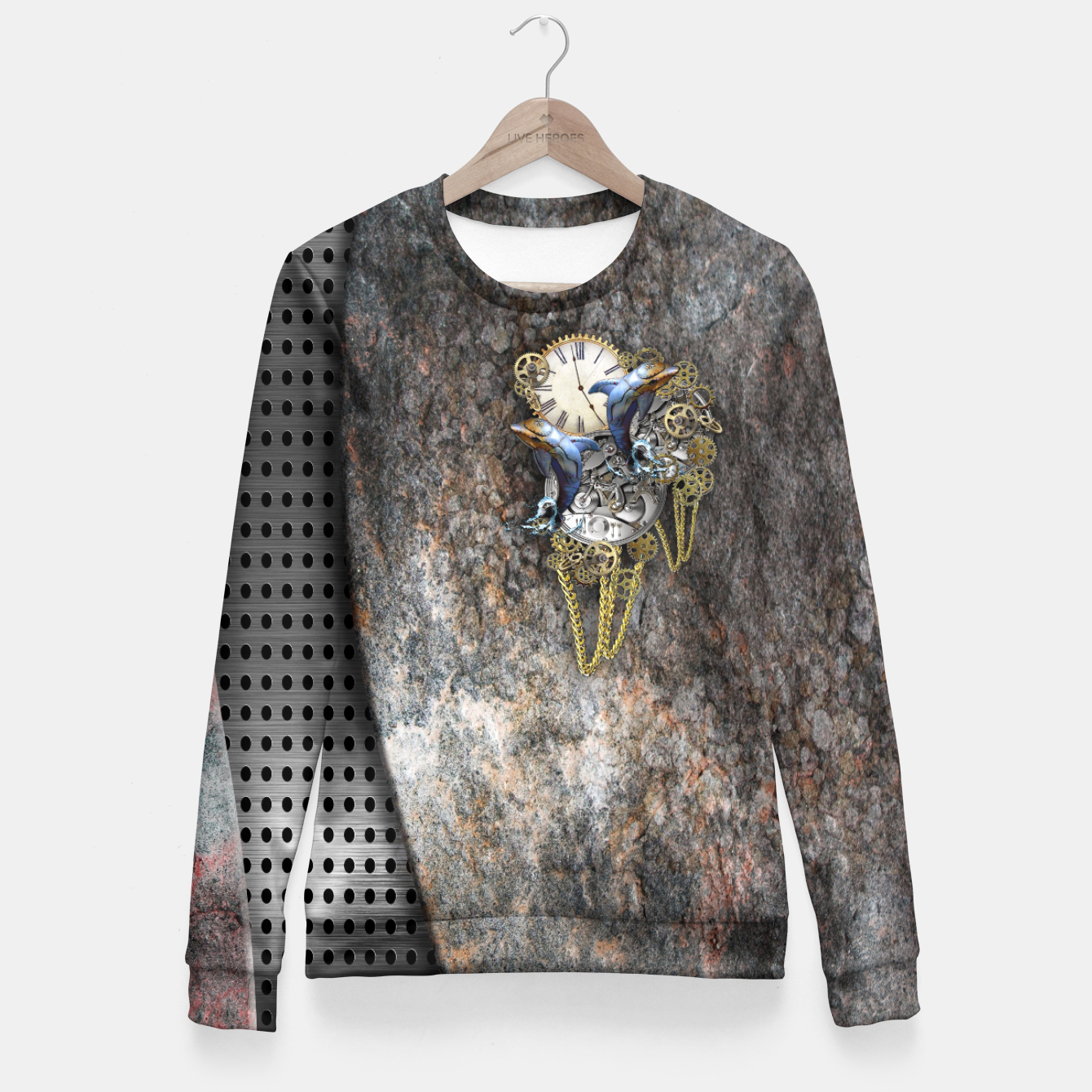 Image of Time Flies Fitted Waist Sweater - Live Heroes