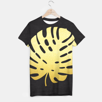 Thumbnail image of Golden tropical leaf T-shirt, Live Heroes