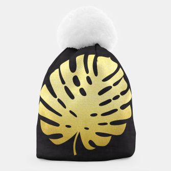 Thumbnail image of Golden tropical leaf Beanie, Live Heroes