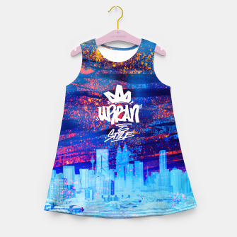 Miniatur Urban Style Girl's Summer Dress, Live Heroes