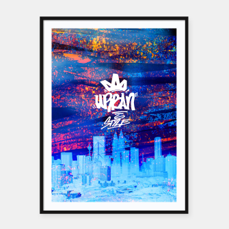 Miniatur Urban Style Framed poster, Live Heroes