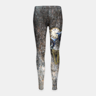 Thumbnail image of Time Flies Girl's Leggings, Live Heroes