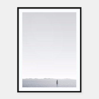 "Thumbnail image of ""Horizon"" - Black & white photography Poster Framed poster, Live Heroes"