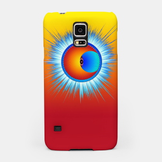 Thumbnail image of Eye Of The Sun Blue Burst Samsung Case, Live Heroes