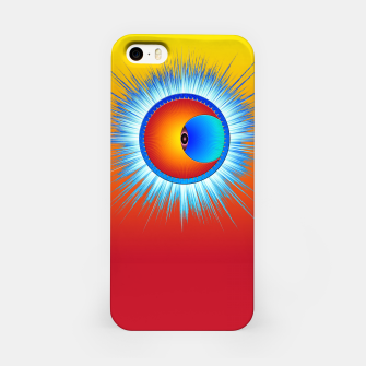 Thumbnail image of Eye Of The Sun Blue Burst iPhone Case, Live Heroes