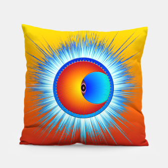Thumbnail image of Eye Of The Sun Blue Burst Pillow, Live Heroes