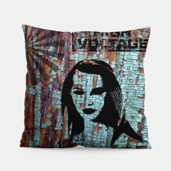 Miniatur Etude in grunge style Pillow, Live Heroes