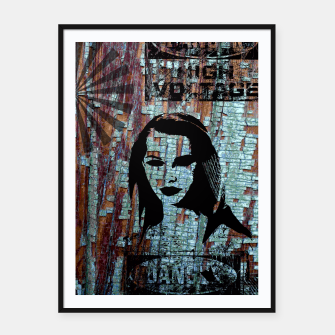 Miniatur Etude in grunge style Framed poster, Live Heroes