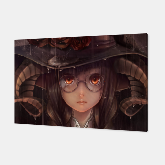 Thumbnail image of Anime Girl Horne Glasses Canvas, Live Heroes