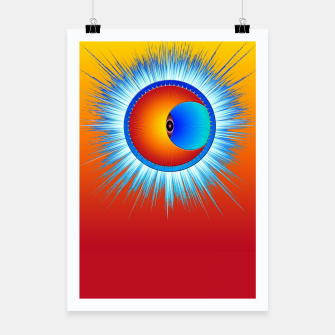 Thumbnail image of Eye Of The Sun Blue Burst Poster, Live Heroes