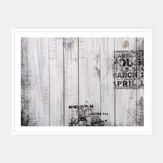 Thumbnail image of Shabby chic Framed poster, Live Heroes