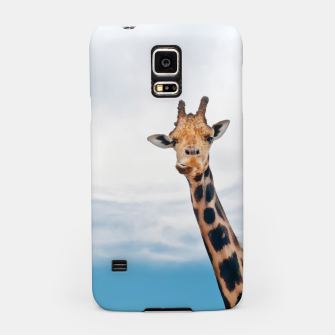 Thumbnail image of Giraffe neck and head against the clear blue sky Samsung Case, Live Heroes