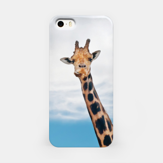 Thumbnail image of Giraffe neck and head against the clear blue sky iPhone Case, Live Heroes