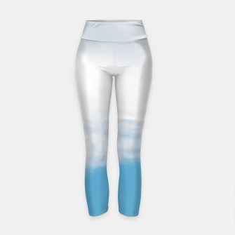 Thumbnail image of Giraffe neck and head against the clear blue sky Yoga Pants, Live Heroes