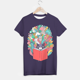 Imagen en miniatura de Reading cat T-shirt, Live Heroes