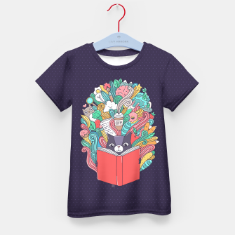 Miniaturka Reading cat Kid's T-shirt, Live Heroes
